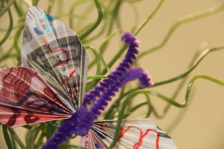 Geldgeschenkdekoration Schmetterling