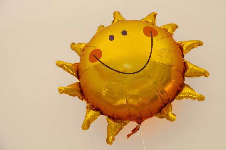Folienballon Sonne