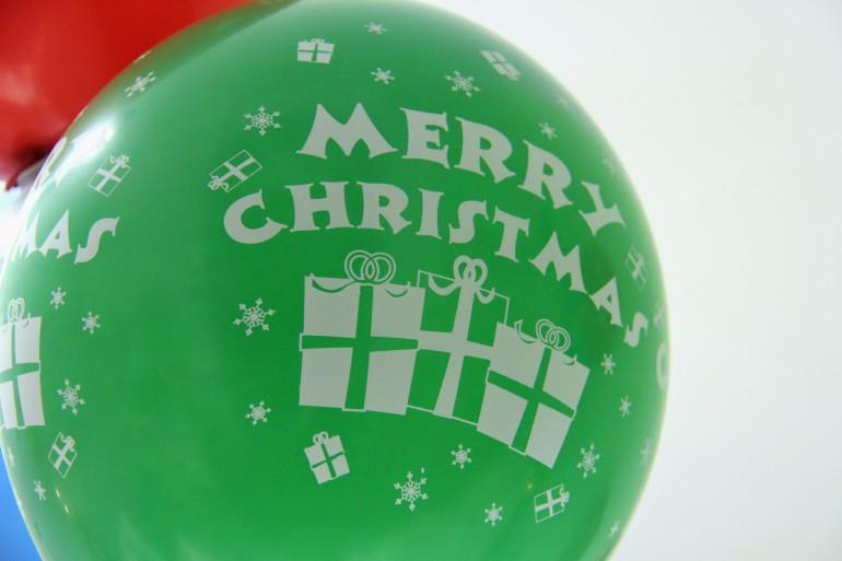 Luftballon Merry Christmas
