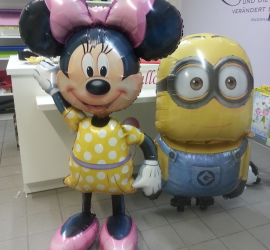 Folienballon Airwalker Minnie Mouse und Minion