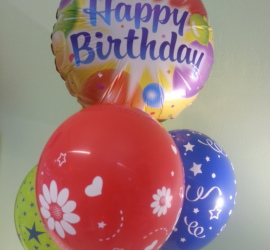 bunte Geburtstagsluftballons