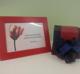 Geschenkeverpackung rot/blau