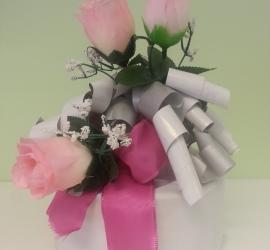 Geschenkeverpackung weiß/rosa