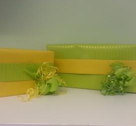 Geschenkeverpackung gelb/grün