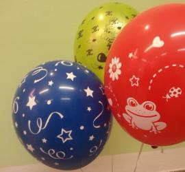 bunte Latexballons