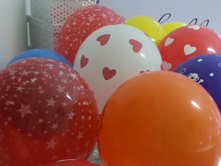 Latexballons bunter Mix