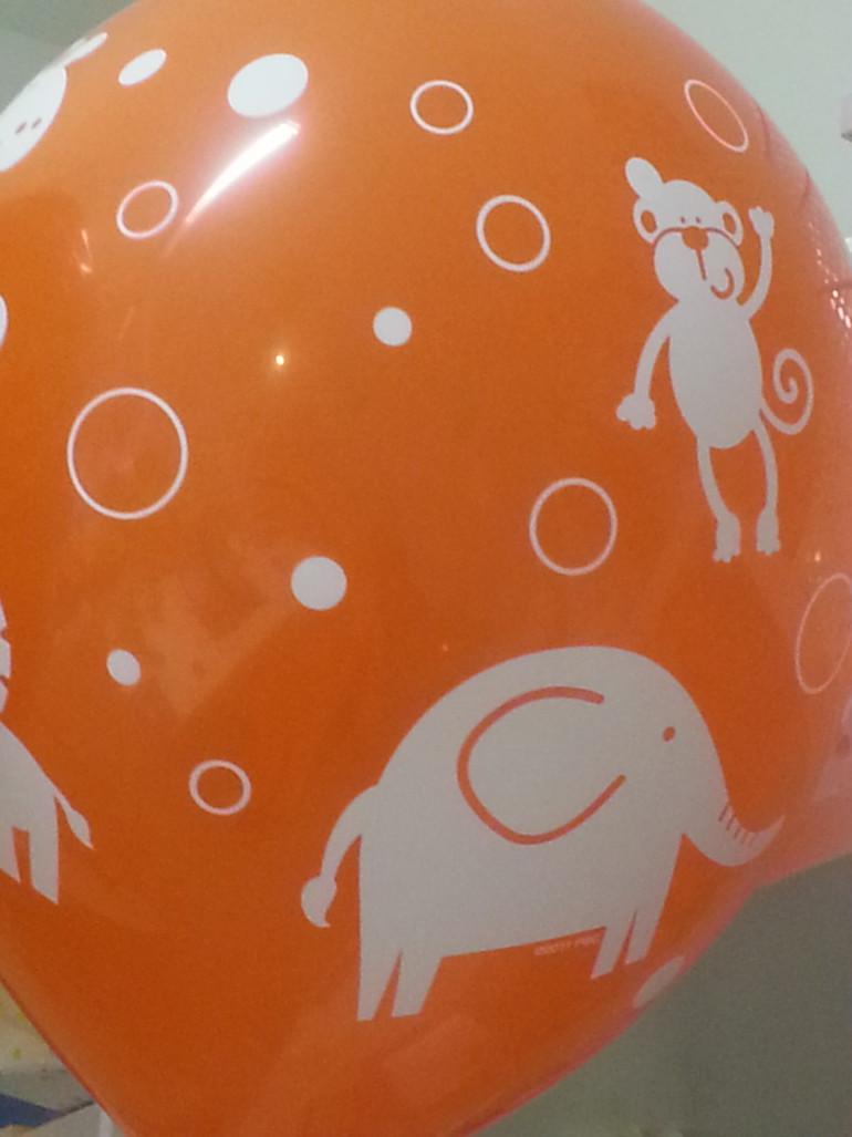 Latexballon mit Tieren