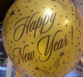 Latexballon Happy New Year gold- Wunderschöne Silvester Deko in verschiedenen Farben erhältlich