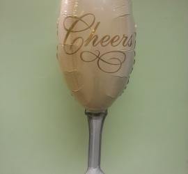 Folienballon Sektglas - zum Geburtstag, zum Jubiläum, zu Silvester, zur Hochzeit, ... für jeden Anlass geeignet
