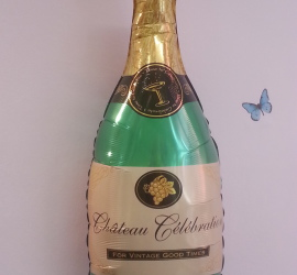 Folienballon Champagnerflasche- zum Geburtstag, zum Jubiläum, zu Silvester, zur Hochzeit, ... für jeden Anlass geeignet