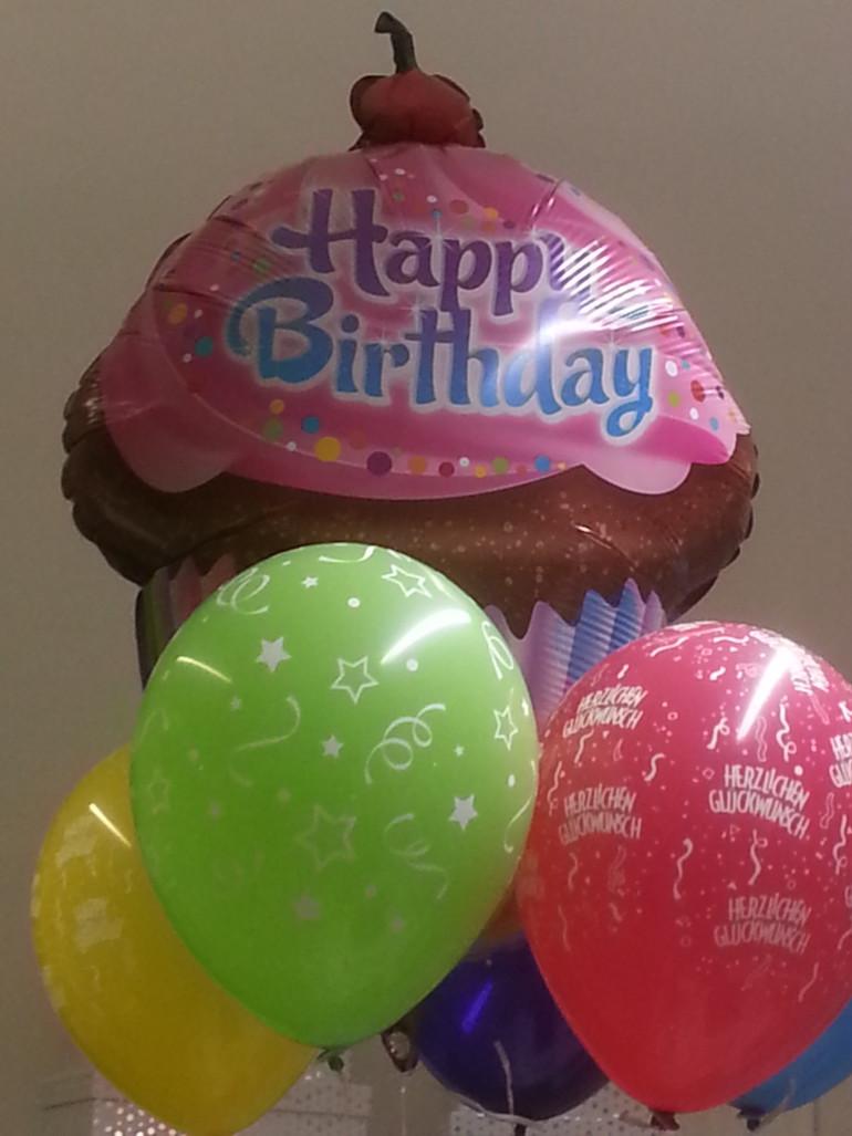 Folienballon Cupcake Happy Birthday