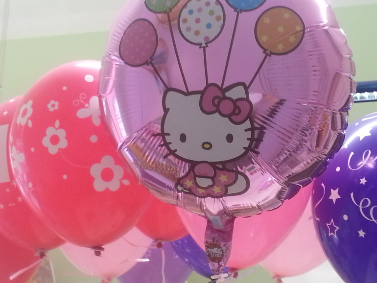 Folienballon rosa Hello Kitty