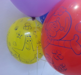 Latexballon Patrick Sandy Cheeks