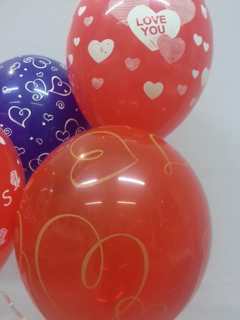 Roter Latexballon