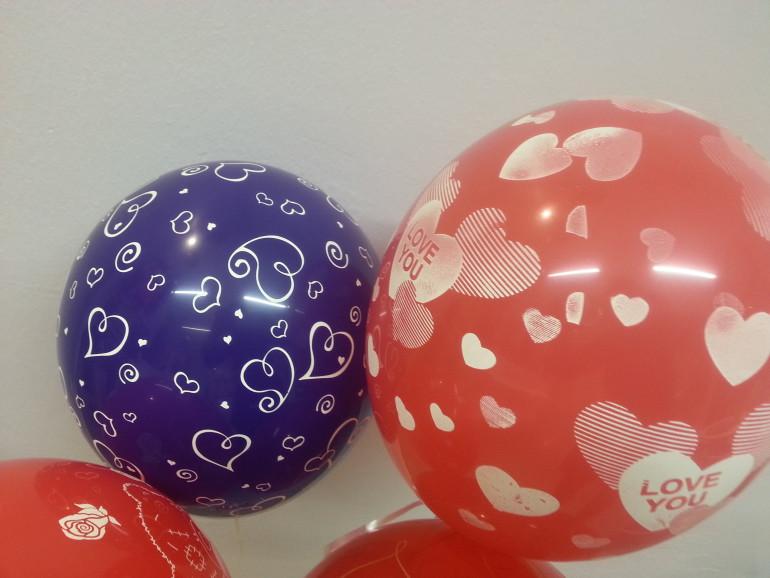Latexballon rot Love You