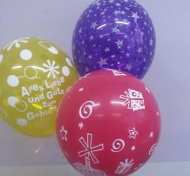 Latexballon gelb Alles Liebe und Gute zum Geburtstag