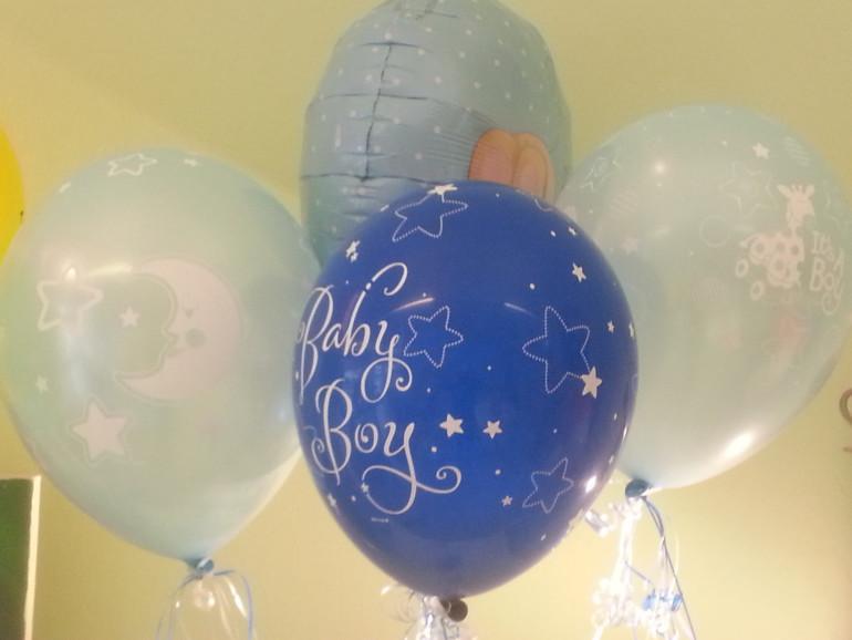 Latexballon blau Baby Boy