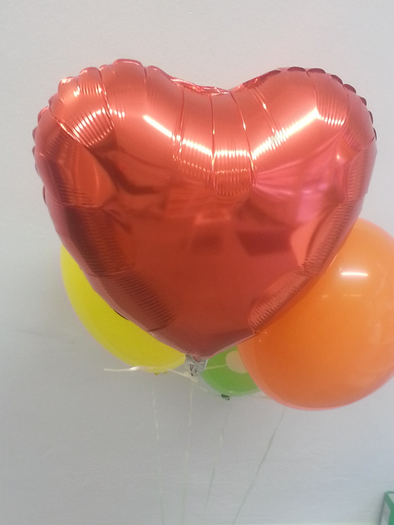 Folienherzballon rot