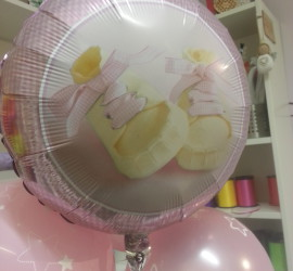 Folienballon Baby Schuhe rosa