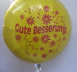 Folienballon Gute Besserung gelb