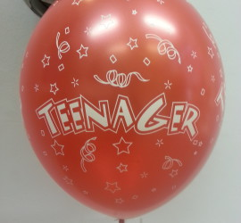 Latexballon rot Teenager