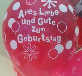 Latexballon rot Alles Liebe und Gute zum Geburtstag
