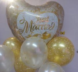 Folienherzballon weißgold