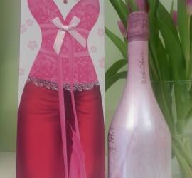 Geschenksackerl Abendkleid rosa
