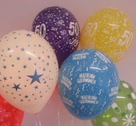 Diverse Geburtstags Latexballons in verschiedenen Farben