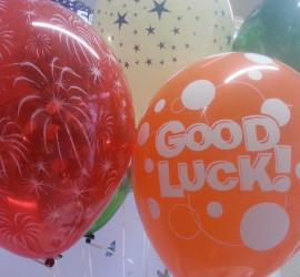 Latexballon rot mit weißem Feuerwerk & Latexballon