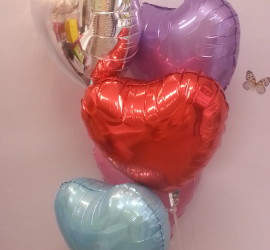 Folienherzballons diverse Farben