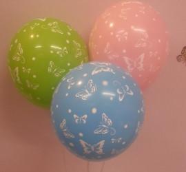Latexballons mit Schmetterlingen diverse Farben