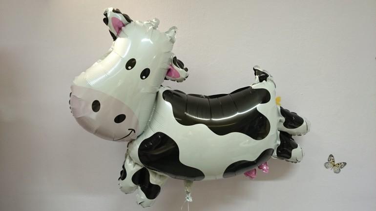 Folienballon Kuh schwarzweiß