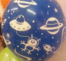 Latexballon blau Astronauten