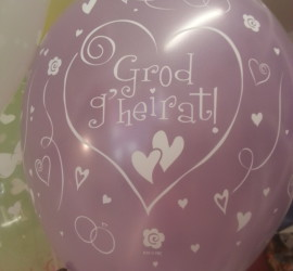Latexballon Grod g'heirat rosa