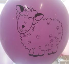 Latexballon rosa mit Schaf
