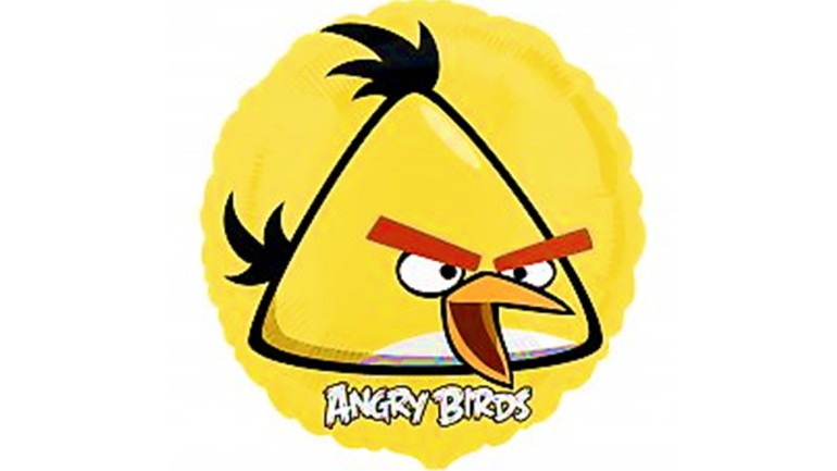 Folienballon Angry Birds gelb