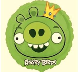 Folienballon Angry Birds grün