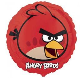 Folienballon Angry Birds rot