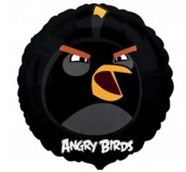 Folienballon Angry Birds schwarz