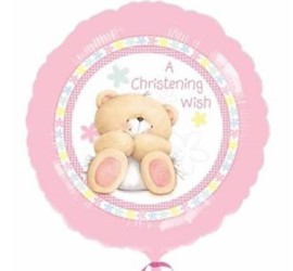 Folienballon A Christening Wish rosa