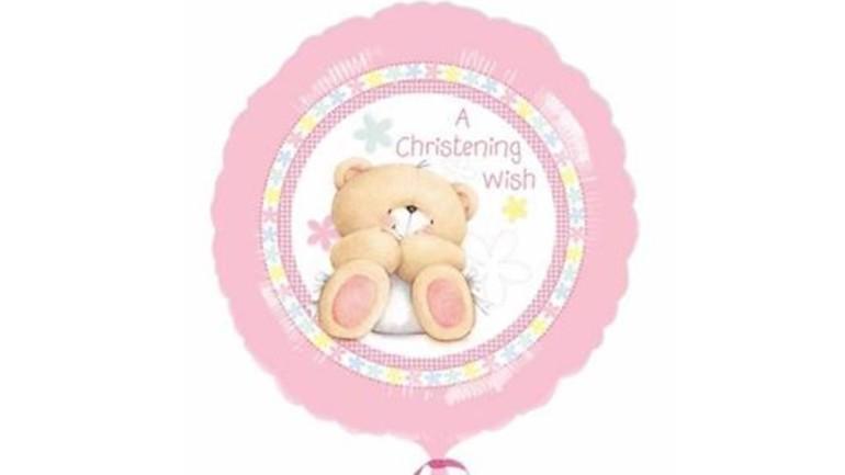 Folienballon A Christening Wish rosa