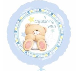 Folienballon A Christening Wish blau