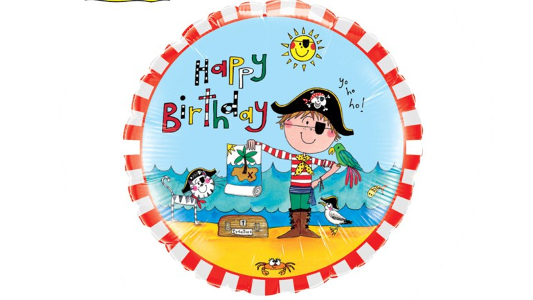 Folienballon Happy Birthday Pirat