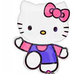 Folienballon Hello Kitty rosa lila