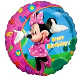 Folienballon Minnie Maus Happy Birthday