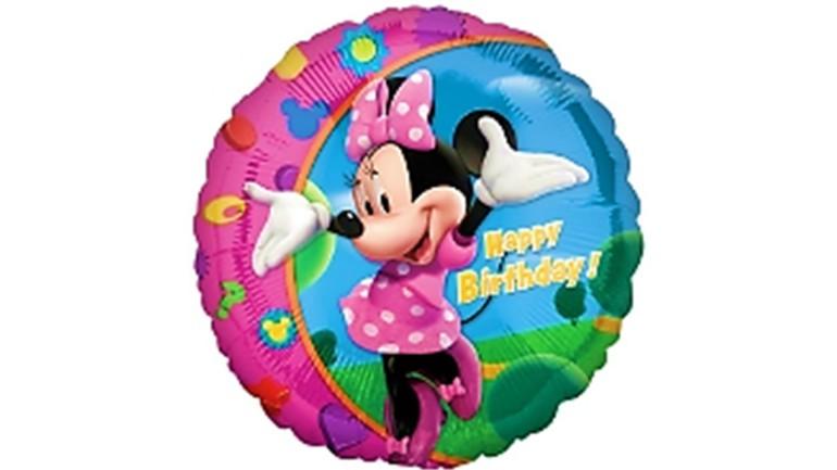 Folienballon Minnie Maus Happy Birthday
