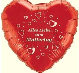 Folienherzballon rot Alles Liebe zum Muttertag