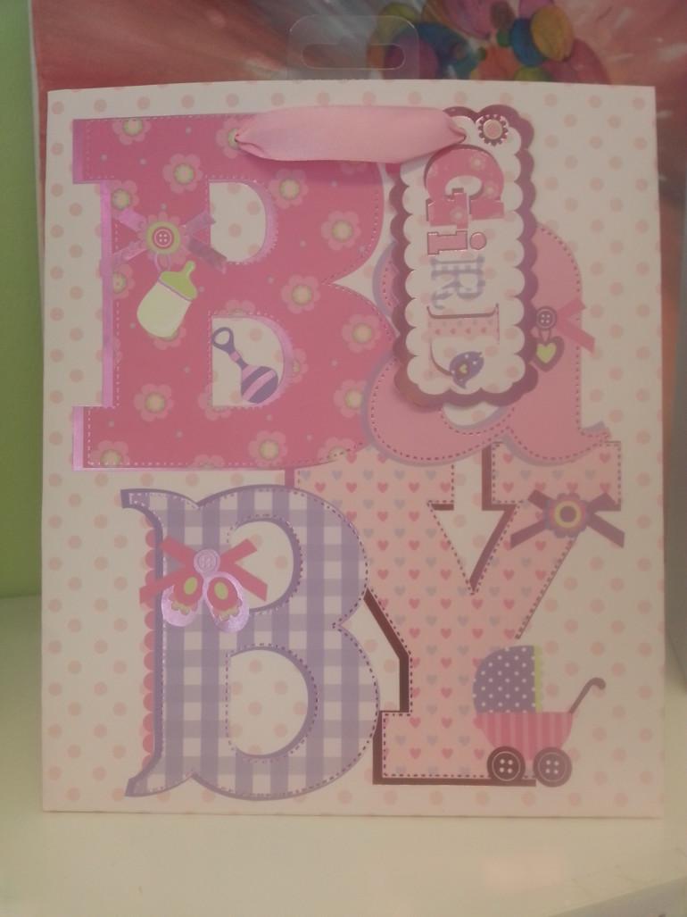 Geschenksackerl Baby Girl rosa