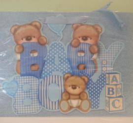 Geschenksackerl Baby Boy blau